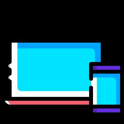 Responsive, Design, Computer, Mobile, Sync, Synchronization, Seo Icon