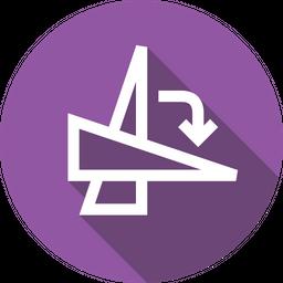 Rotate, Degree, Angle, Transform, Clockwise, Select, Flip Icon