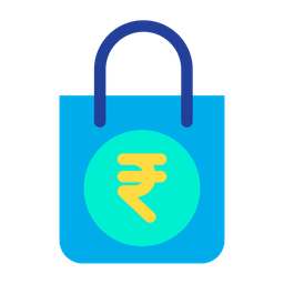 Rupees Shopping  Bag Icon