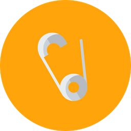 Safety, Needle, Pin, Diaper, Cloths, Fabric, Closed Icon