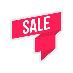 Sale, Discount, Offer, Tag, Label, Ribbon, Sticker, Coupon Icon