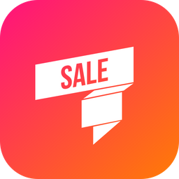 Sale, Ribbon, Discount, Offer Icon