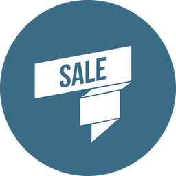 Sale, Ribbon, Offer, Discount Icon