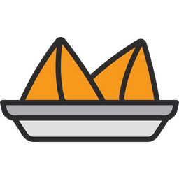 Samosa Icon Of Colored Outline Style Available In Svg Png Eps Ai Icon Fonts
