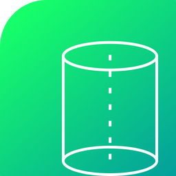Science, Cylinder, Tube, Cylindricle, Center, Centroid Icon