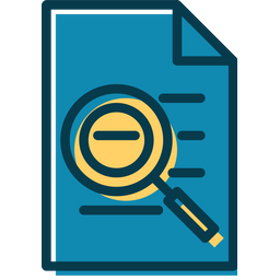 Search File Colored Outline Icon