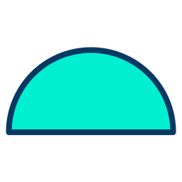 Semicircle Icon of Colored Outline style - Available in SVG