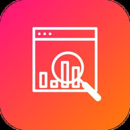 Seo, Web, Monitoring, Statics, Numbers, Analysis, Performance Icon