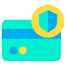 Shield Credit Card Icon of Flat style - Available in SVG