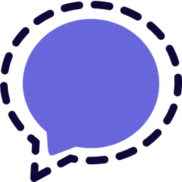 Signal Colored Outline  Logo Icon