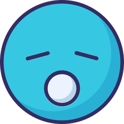 Sleepy Emoji Icon of Colored Outline style - Available in SVG, PNG