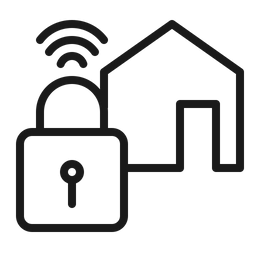 Smart Home Lock Icon