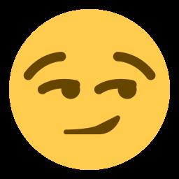 emoji smirk face
