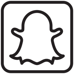 Snapchat Icon Of Line Style Available In Svg Png Eps Ai Icon Fonts