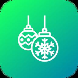 Snowflake, Ball, Christmas, Xmas, Decoration, Light Icon