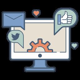 Social, Media, Profile, Building, Advertising, Management, Marketing Icon