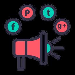 Socialmedia advertising digitalmarketing branding facebook twitter 21 Icon