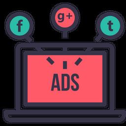 Socialmedia advertising digitalmarketing branding facebook twitter 4 Icon