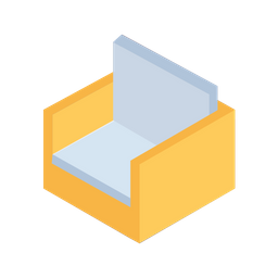Sofa, Chair, Sit, Furniture, Isometric, Grid, 3d Icon