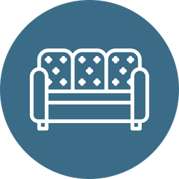 Sofa, Couch, Belongings, Furniture, Furnishings, Household Icon