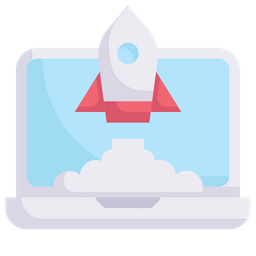Startup Rocket Lunch Icon