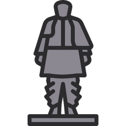 Statue Of Unity Icon Of Colored Outline Style Available In Svg Png Eps Ai Icon Fonts