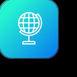 Study, School, Map, World, Education Icon