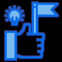 Success Idea Colored Outline Icon