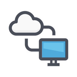 Sync computer with cloud Icon