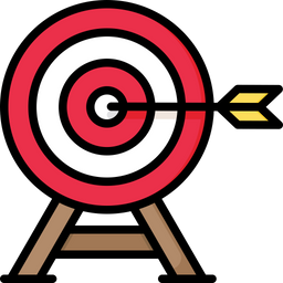 Target Colored Outline Icon