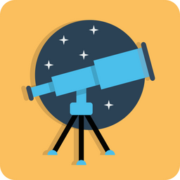 Telescope, Search, Find, Web, Seo, Astronomy, Stars Icon