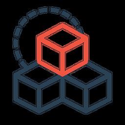Three, Box, Boxes, Cube, Cubic, Rubik, Design, Inspiration Icon