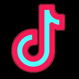 Tik Tok Colored Outline  Logo Icon