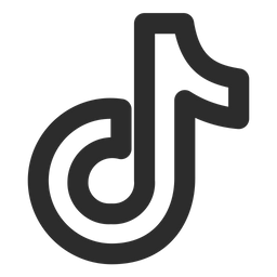 Tiktok Icon of Line style - Available in SVG, PNG, EPS, AI ...