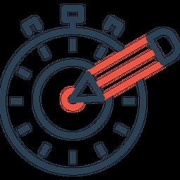 Time, Seo, Optimization, Web, Page, Target, Timer Icon
