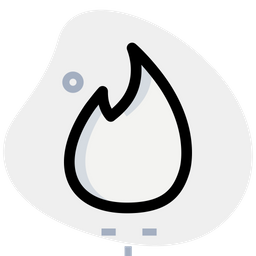 Tinder Colored Outline  Logo Icon