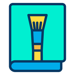 Tool Book Colored Outline Icon