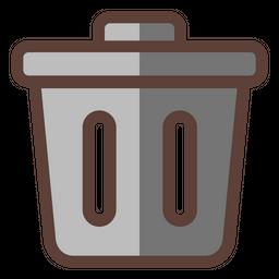 Trash Colored Outline Icon
