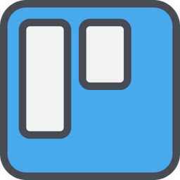 Trello Icon Of Colored Outline Style Available In Svg Png Eps Ai Icon Fonts