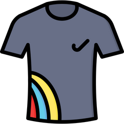tshirt icon of colored outline style available in svg png eps ai icon fonts tshirt icon of colored outline style