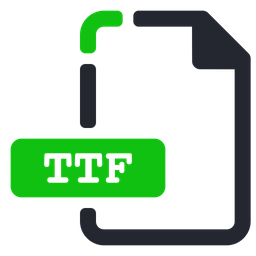 Ttf Icon of Colored Outline style - Available in SVG, PNG