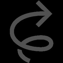 Twister, Arrow, Swirl, Tornado, Clockwise Icon