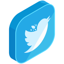 Twitter Logo Icon Of Isometric Style Available In Svg Png Eps Ai Icon Fonts