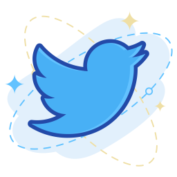 Twitter Logo Icon Of Colored Outline Style Available In Svg Png Eps Ai Icon Fonts
