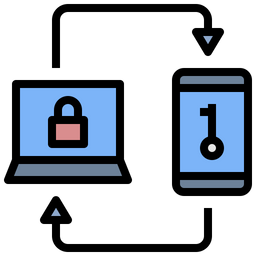 Two Factor Verification Colored Outline Icon