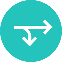 Twoway, Arrow, Arrows, Straight, Right, Merge Icon
