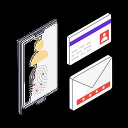 User Authentication Isometric Icon
