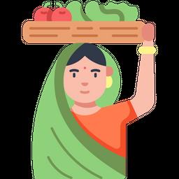 Vegetable Vendor Icon