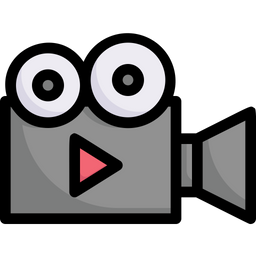Video Production Colored Outline Icon