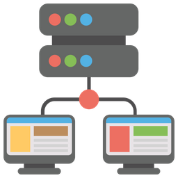 Vps web hosting Icon of Flat style - Available in SVG, PNG